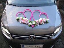 Meilleur mariage voiture décoration Set Kit Ruban Limousine 2 coeurs roses & fleurs!