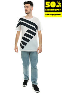 EMPORIO ARMANI EA7 Mesh T-Shirt Top Size S Two Tone Grosgrain Straps Round Neck