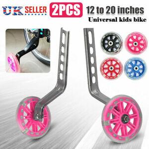 """Universal Kids Child Bicycle Bike Training Wheels Stabilisers LED Light 12-20"""""""