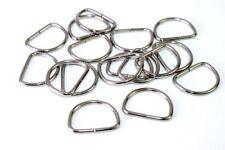 D-Ringe-Halbringe, 10 Stück 20x12,7x2,5mm vernickelt für 20mm Gurt/Band