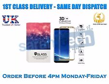 New Samsung Galaxy S8+ Plus Tempered Curved Cover Glass Screen Protector Gold