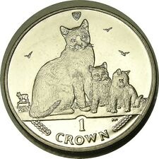 elf IOM Isle of Man 1 Crown 2014 Snowshoe Cat Kittens