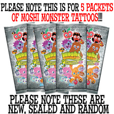 Moshi Monsters 2013 Tattoos - 5 Random Sealed Packets