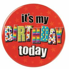 Badge Jumbo 15cm  It's my Birthda, Party Supplies/Props/Decorations/Gifts
