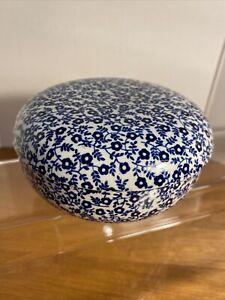 FELICITY Burleigh Blue Staffordshire England Trinket Dish Lid Jewelry