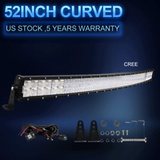 """Quad Row 52"""" 6720W Curved LED Light Bar Offroad fit for Jeep Truck ATV 50/54 US"""