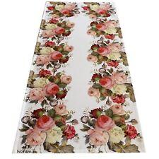 Rosen Tischdecke 40*90cm Pfingstrosen Blüten Tischtuch Mitteldecke bedruckt 578