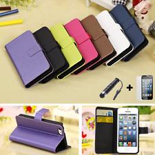 iPhone 5C Schutzhülle Flip Tasche PU- Leder Case Cover Etui + Folie