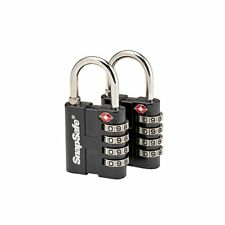 SnapSafe TSA Approved Combination Lock, Package of 2