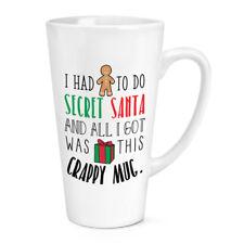 I Had To Do Secret Santa 483ml Grand Latte Tasse - Remplissage Chaussettes Noël