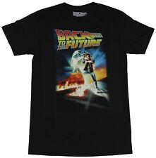 Back to the Future Mens T-Shirt  - Classic Marty McFly Movie Poster Image