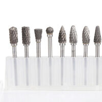 10 x Solid Carbide Burrs for Rotary Drill Die Grinder Carving Bit DWNEWHK