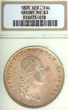 German States Saxony 1808 SGH Taler Coin NGC MS63 Fast.STG Thaler Deutschland