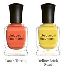 NEW LOT 2! DEBORAH LIPPMANN Nail Polish in LARA'S THEME & YELLOW BRICK ROAD