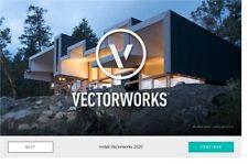 VectorWorks 2020 - FULL DESIGNER - WIN & MAC - LIFETIME ACTIVATES - FAST SHIP!