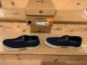 Sperry Top Sider Navy Canvas size 10