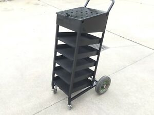 5 Tiered Black Trolley for Work Tool Storage & More