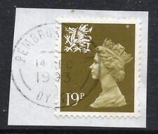 GB = QE2 Postmark - `PEMBROKE DOCK / DYFED` 1993 Single Ring cancel.