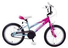 "Ammaco Misty 16"" Wheel BMX Girls Bike Pink & Blue Age 5+"