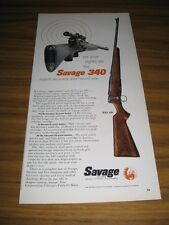 1957 Print Ad Savage 340 Bolt Action Rifles Made in Chicopee Falls,MA