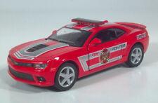 "Kinsmart 2014 Chevrolet Camaro Fire Fighter Diecast Model Toy 1:38 Chevy 5"""