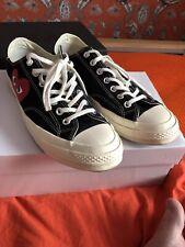 Comme Des Garçons PLAY Converse Mens Sneakers Black size 44 UK 10