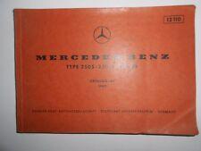 "MERCEDES -BENZ - CATALOGO ""A"" - TYPE 250S./250SE./ 300SEb - ANNO 1965"