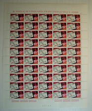 1967 ITALIA  40  lire  Codice di Avviamento Postale    foglio intero MNH**