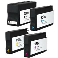 4 x Compatible High Cap 950XL 951XLCMY Set for use with HP 7510 Series Non-OEM