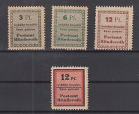 BY7075/ GERMANY – RUSSIAN ZONE – RUNDEROTH – MI # 1A / 3A – III A MINT MH