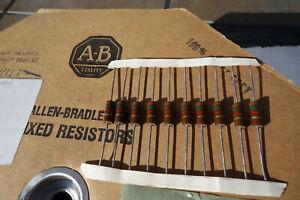 10 Ea Allen Bradley 1.5K 1W 5% Carbon Compositioin Audio Tube Amplifier Resistor