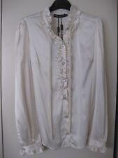 b908de96fa533e Dolce   Gabbana Silk Blouse Size 42 NWT With Ruffles and Bow
