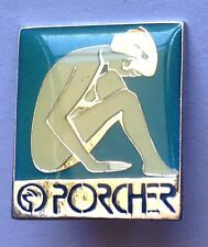 Porcher Bathroom Products Brand Advertising Pin Badge Rare Vintage (F6)