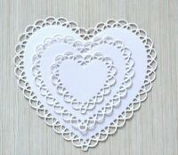 Lace Heart Cutting Dies Stencil DIY Scrapbooking Embossing Paper Card Mold Craft