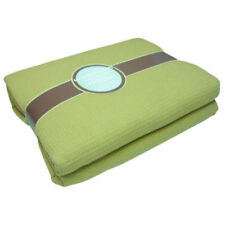 Couvre-lit verts en 100% coton