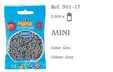501-17 Hama Beads MINI gris,grey 2000 piezas