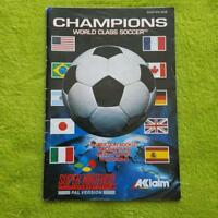 SNES - Champions World Class Soccer Anleitung Manual Booklet