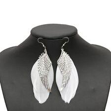 Feather Earrings White Hook Wing Jewelry Earrings B6l2