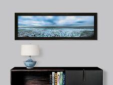 "OCEAN PANO 12"" X 36"" FRAMED LARGE ART  WALL OFFICE DECOR FINE ART PHOTOGRAPHY"