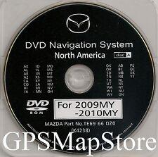 2009 2010 2011 Mazda Mazda6 CX-9 RX-8 Navigation DVD WEST Coast U.S Map + Canada