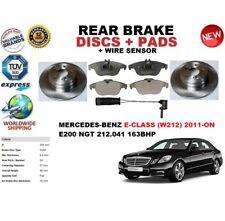 FOR MERCEDES E200 NGT W212 BERLINA 11- REAR BRAKE DISCS SET+PADS KIT+SENSOR