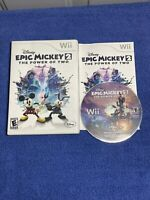 Disney Epic Mickey 2: The Power of Two (Nintendo Wii, 2012)- Complete