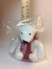 Coca Cola Polar Bear Plush with Red Knit Scarf Coke Christmas 5� 2016