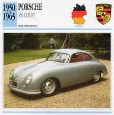 1950-1965 PORSCHE 356 COUPE Classic Car Photo/Info Maxi Card