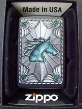 Zippo Sturmfeuerzeug Feuerzeug Turquoise Buckle Horse