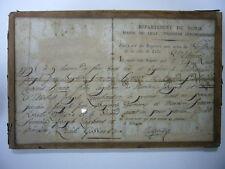 DPT DU NORD LILLE EXTRAIT ACTE DE NAISSANCE MANUSCRIT 1791 LUCILE GOSSARD TBE