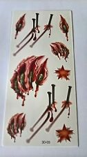 Body Art - Claws & Nails - Temporary Tattoos  3D-05 Free Post