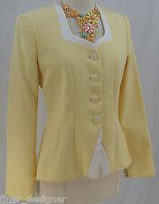 BIGIO COLLECTION cotton peplum suit Blazer light coat jacket top pastel SZ 4 VTG