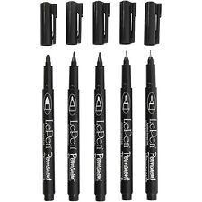5 Permanent Marker Schwarz verschiedene Strichstärken wasserfeste Stifte