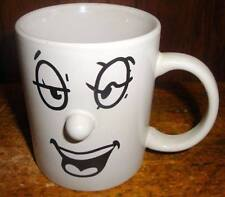 Funny Face Coffee Mug Mood Emotion  Protruding Noses 3 Dimensional Laugh
